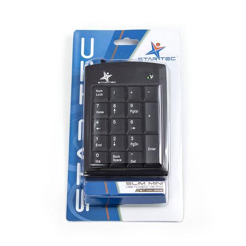 teclado numerico star tec st-nk-002 negro