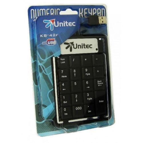 teclado númerico usb unitec kb-42f