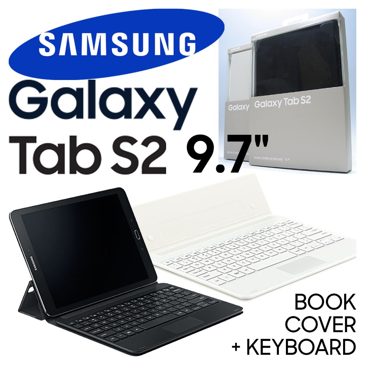 size 40 48983 a96d3 Teclado Oficial Samsung @ Galaxy Tab S2 9.7 Keyboard Cover