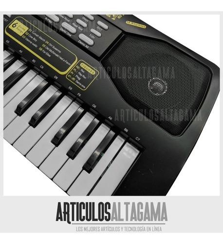 teclado organeta piano electrónico 49 teclas con micrófono