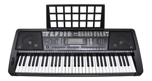 teclado organo auto didactico 61 teclas 128 ritmos 50 demos