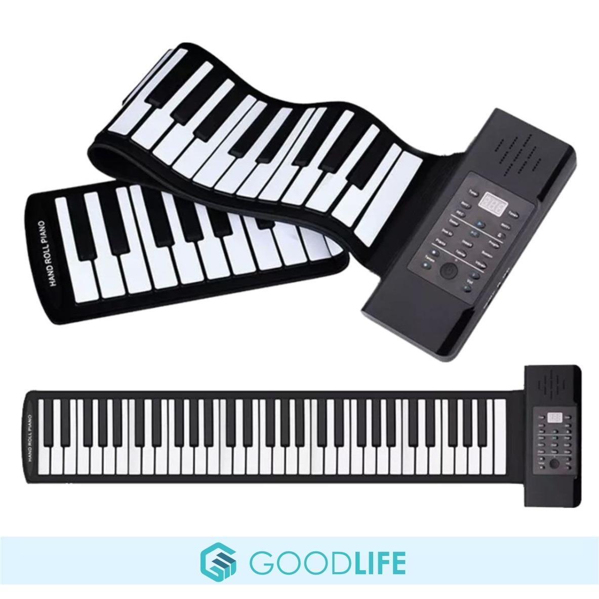 Teclado Organo Enrollable 61 Teclas Piano Flexible Usb Midi