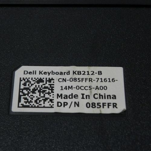 teclado original dell abnt2 usb kb212-b com ç - preto
