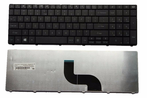 teclado original gateway nv53a24u kb.i170g.1 laptop negro