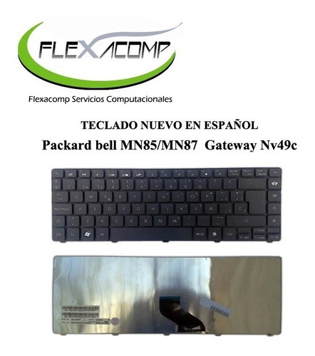 teclado packard bell mn85 mn87 nv49c envio gratis