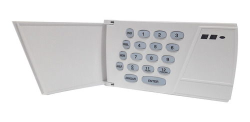teclado para central de alarme residencial led paradox 636pt