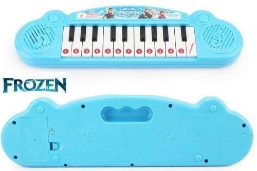 teclado para crianças 22 teclas 8 músicas cor azul