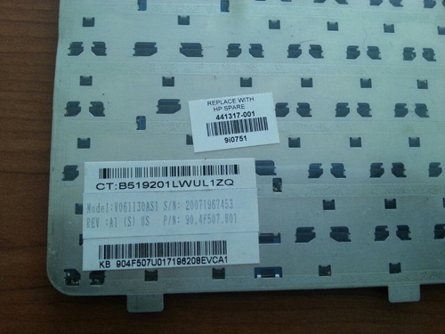 teclado para hp dv2000 compaq v3000