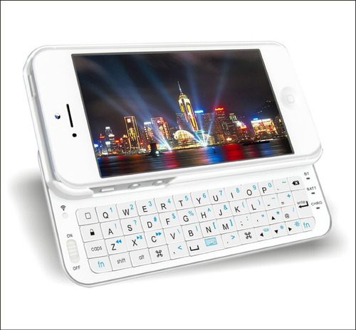teclado para iphone 5 ultradelgado color blanco