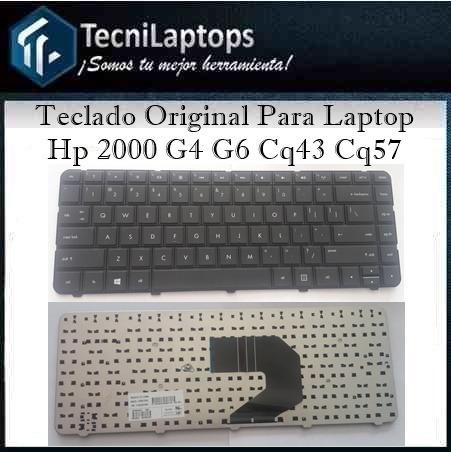 teclado  para laptop hp 2000 g4 g6 compaq cq43 cq57 25vdes