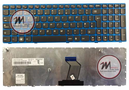 teclado para lenovo z575 blue ingles