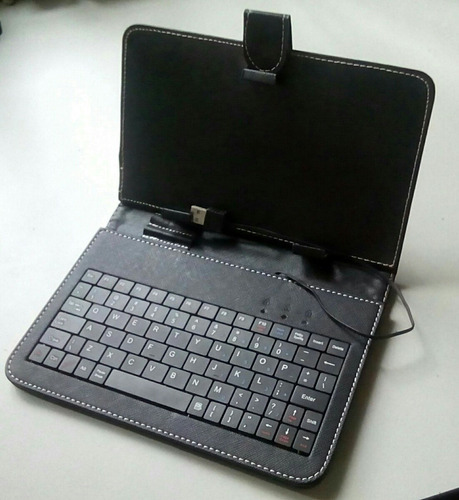 teclado para tablet, incluye cables y funda