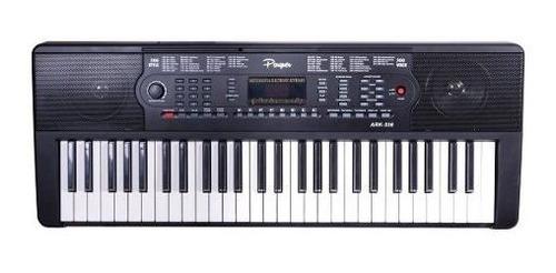 teclado parquer 4 octavas 54 teclas negro principiante