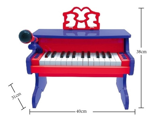 teclado piano classico infantil usb karaoke gravador microfo