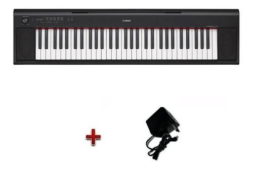 teclado piano digital yamaha np12black sensitivo 5 octavas