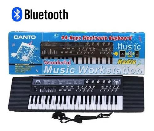 teclado piano organo 5 octavas usb mp3 aux pawer bank