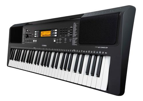 teclado piano yamaha psre363 inc. iva + adaptador + pedestal
