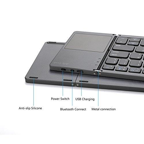 teclado plegable bluetooth jelly peine tamano de bolsillo po