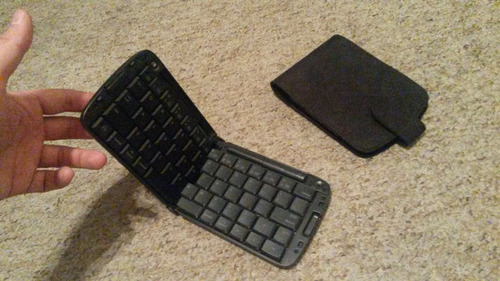 teclado plegable bluetooth para iphone / ipad / smartphone