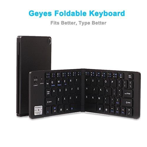 teclado plegable portátil, geyes ultra slim teclado plegabl