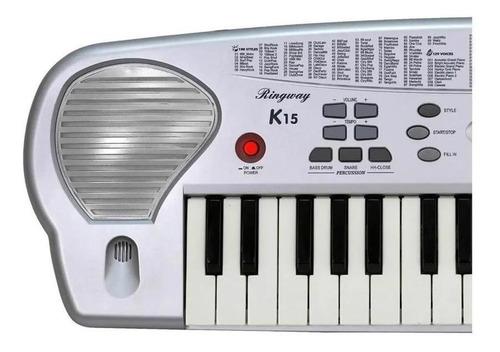 teclado p/niños 37 teclas infantil ringway midi k15 fuente