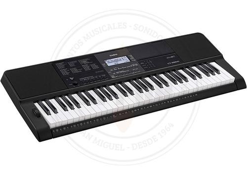 teclado portátil casio ct-x800 61 teclas sensibles al tacto