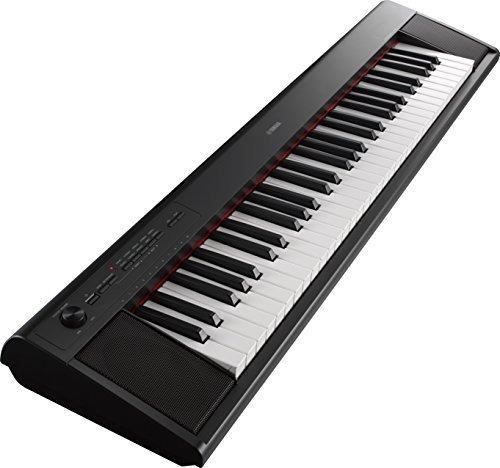 teclado portatil liviano yamaha np12 61key el adaptador de a
