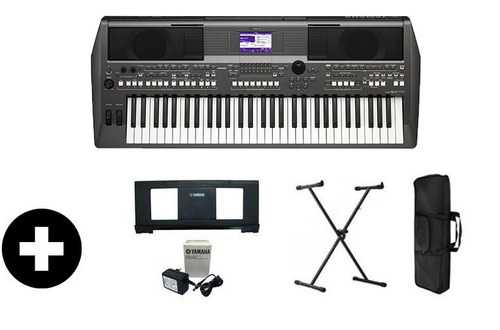 teclado psr s670 yamaha frete grátis suporte+capa+ritmos