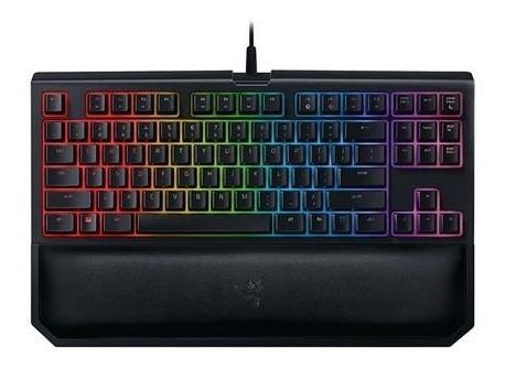 teclado razer blackwidow te chroma v2 mecanico yellow switch