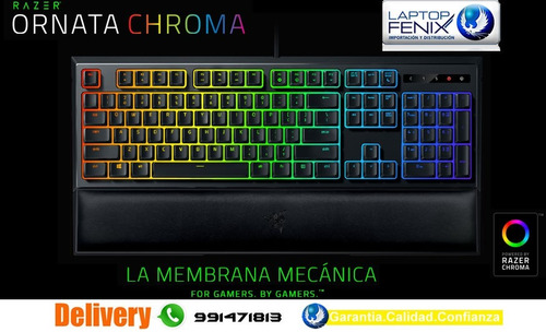 teclado razer ornata chroma mechanical-membrane gaming usb