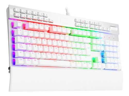 teclado redragon mecanico yama k550 blanco rgb macros