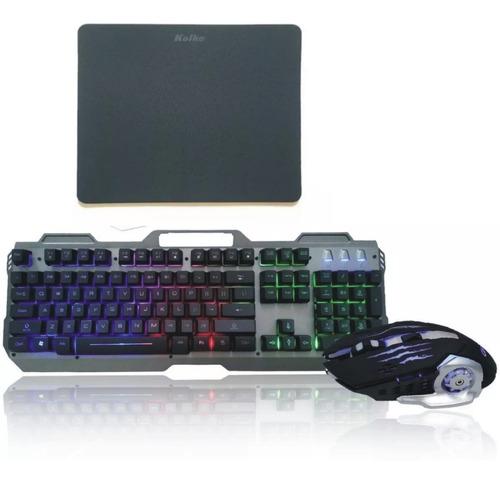 teclado retroiluminado gamer gaming usb ps4 mouse pad