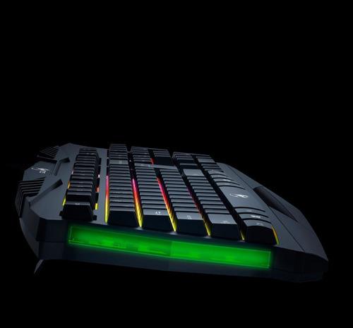 teclado retroiluminado gamer genius gx scorpion k220 con lañ