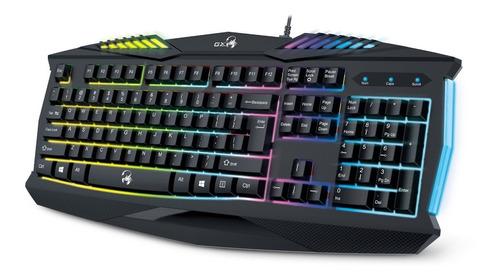 teclado retroiluminado gamer genius gx scorpion k220 con ñ