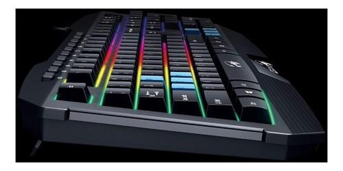 teclado retroiluminado gamer genius gx scorpionk215 con la ñ