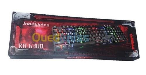 teclado retroluminado kr.6300 cable usb pc gamer poratiles