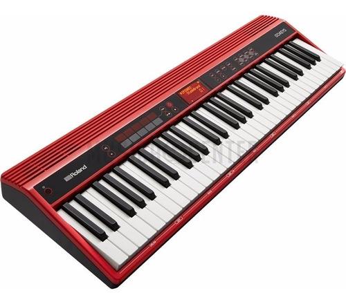 teclado roland go keys bluetooth go-61k kit completo go61 k