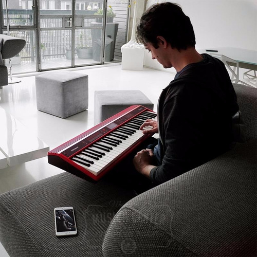 teclado roland go keys bluetooth go61k kit completo go-61k