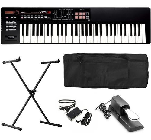 teclado roland sintetizador xps10 xps 10 xps-10 kit completo