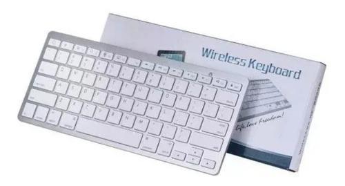 teclado sem fio bluetooth para tablet, ipad, galaxy - branco