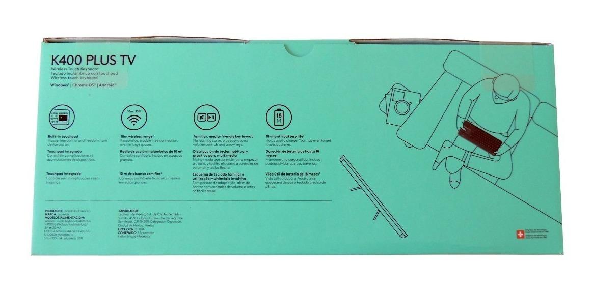 Teclado Sem Fio Com Touchpad Logitech K400 Plus Smart Tv Nfe