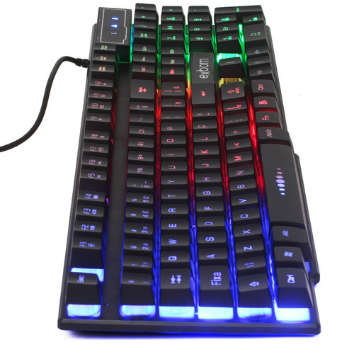 teclado semi mecanico gamer usb pc computador abnt2 luminoso