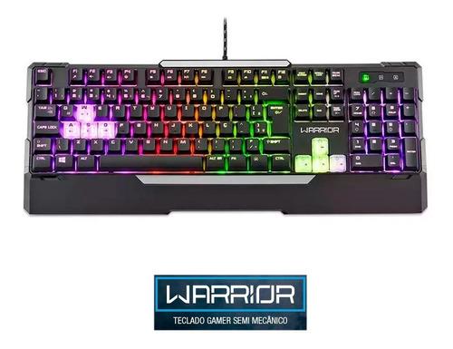 teclado semi mecanico warrior gamer multimidia multilaser