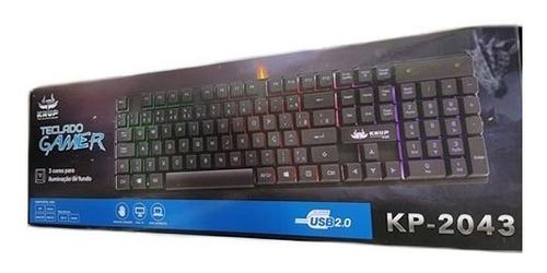 teclado semi mecânico gamer led usb abnt2 iluminado
