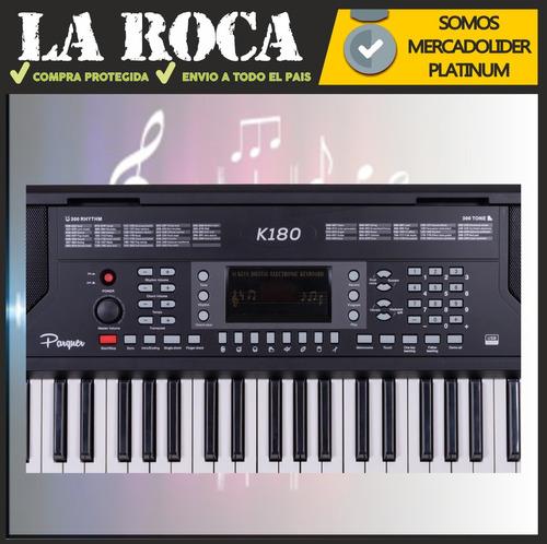 teclado sensitivo 5 octavas 61 teclas atril y fuente cuotas