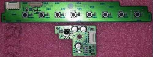 teclado + sensor controle remoto tv lg 32pc5rv