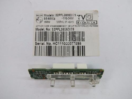 teclado sensor remoto tv philips 32pfl3605d 32pfl3805d