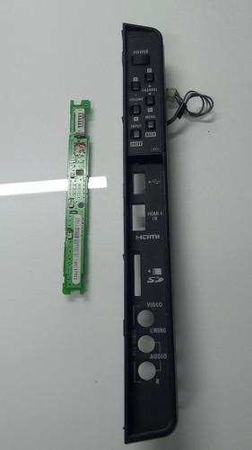 teclado + sensor remoto tv semp toshiba 32 42xv600