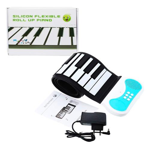 teclado silicone flexível piano portátil 49 teclas