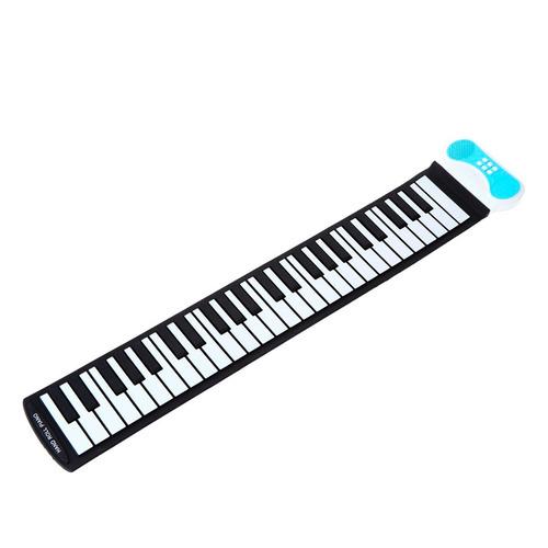 teclado silicone flexível piano portátil 49 teclas enrolar